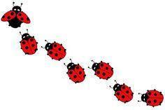 Red Lady Bug Design