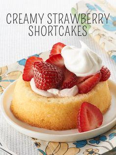 Creamy Strawberry Shortcakes for spring! #recipe
