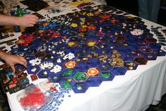 12 player Twilight Imperium...  Omg madness. This would take us weeks.