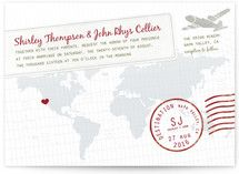 A Faraway Destination Wedding Invitations