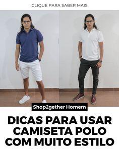 Dicas e inspirações para você montar um look estiloso com camisa polo masculina.