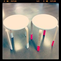 Two beautiful dip dyed stools for our Life Instyle stand