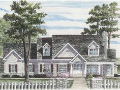 Cape Cod House Plan with 2463 Square Feet