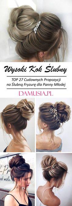 Wysoki Kok Ślubny – TOP 27 Cudownych Propozycji na Ślubną Fryzurę Bride Hairstyles, Hair Beauty, Dreadlocks, Hair Styles, Student, Design, Fashion, Finger Nails, Hair