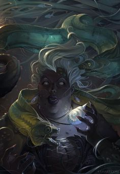 Ursula - again, not a princess.  But she's a witch... which is kind of a princess....?  And, again, the art is EXCELLENT!