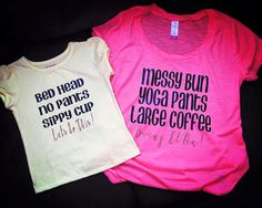 A personal favorite from my Etsy shop https://www.etsy.com/listing/281780514/mommy-daughter-matching-shirt-sets