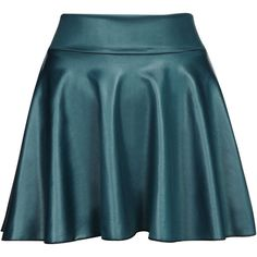 Yoins Blue Leather Look Skater Skirt With Elastic Band ($10) ❤ liked on Polyvore featuring skirts, blue, blue pleated skirt, blue skirt, flared skirt, high waisted pleated skirt and faux-leather pleated skirts