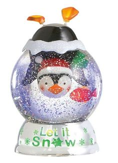 Upside Down Penguin Light Up Waterglobe, Lighted Penguin Shimmer Water Globe by Midwest-CBK  $30.00