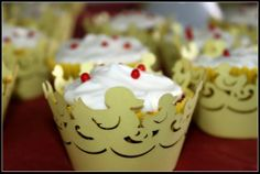 Ducky party - cupcake papers. So cute.  Gotta love it