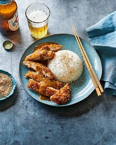 Crispy fried chicken with a sweet and creamy curry sauce, learn how to make our ultimate chicken katsu curry with this step-by-step guide. Chicken Katsu Curry Recipes, Katsu Recipes, Chicken Recipes, Salsa Curry, Crispy Fried Chicken, Curry Dishes, Curry Sauce, Saveur, Desserts