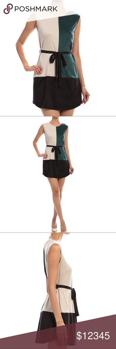 """COMING SOON! Colorblocked Suede Tie Dress COMING SOON! Colorblocked Suede Tie Dress  Information:  Color: Wine, Beige, and Black Fabric: 90% Polyester, 10% Spandex Ties around the waist in the front Soft suede texture No zipper  Measurements:  Small: 34"""" Bust, 32.75""""Length Medium: 35"""" Bust, 33""""Length Large: 36.5"""" Bust, 34""""Length ocaputostyle Dresses Mini"""