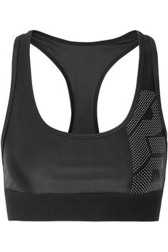 Game Point Mesh-trimmed Stretch-jersey Sports Bra - Black P.E Nation Official Cheap Price 5HAsOJUDa