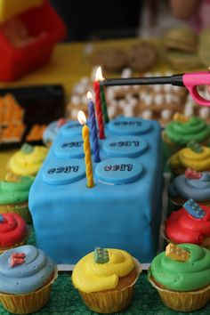Fondant covered LEGO birthday cake