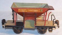 """Märklin 701935 seltener Schotterwagen """"Talbot"""", Spur 0, 30er (33173)"""