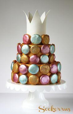 cake with macarons makroner tårta