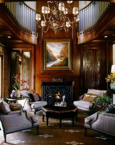 LOVE this wood paneling.... just gorgeous!  Lighting a Livingroom - traditional - living room - san diego - Robeson Design