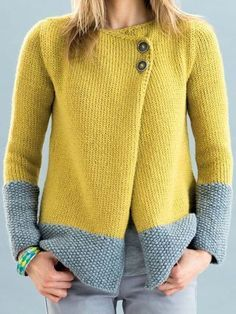 Cardigans For Women, Cardigan Fashion, Baby Knitting, Free Knitting, Chic Outfits, Types Of Sleeves, Knitwear, Clothes For Women, Tricot Facile