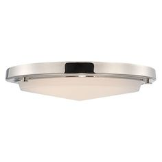 Sawyer Polished Nickel LED Flush Mount with Frosted Glass