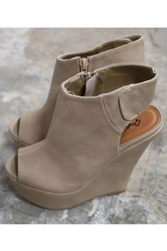 d6f6507487f You Can t Always Get What You Want Taupe Peep Toe Wedges Get What You