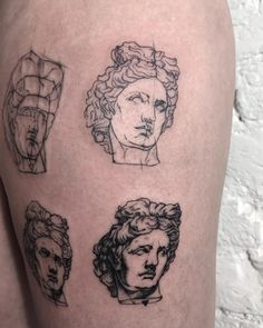sashatattooing:  Beautiful Apollon �� #sashatattooing #linework...