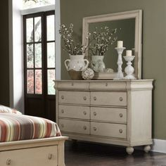 Rustic Traditions 8 Drawer Dresser - Rustic White - Dressers & Chests at Hayneedle