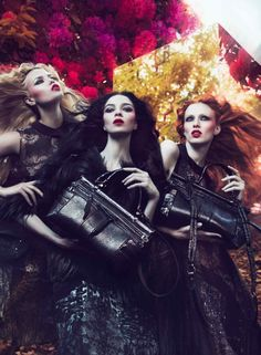 Roberto Cavalli Fall 2011 Campaign | Natasha Poly, Mariacarla Boscono & Karen Elson by Mert & Marcus