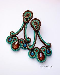 Soutache earings by Artannyr