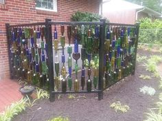 Wine Bottle Fence Ideas