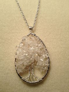 Tree of Life Clear Quartz Handmade Jewelry by Just4FunDesign, $30.00