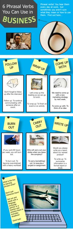 6 English Phrasal Verbs You Can Use at Work Today