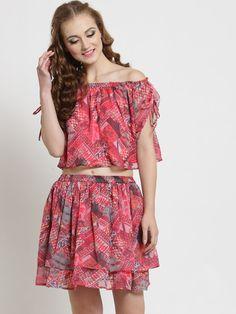 538f6d25f5e Buy Sera Women Pink Printed Two Piece Dress - Dresses for Women