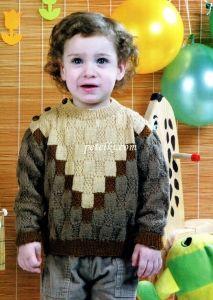Вязание для детей спицами. Свитер Baby Boy Knitting Patterns, Baby Dress Patterns, Knitting For Kids, Knitting Designs, Knit Patterns, Knit Baby Sweaters, Baby Couture, Crochet Jacket, Baby Cardigan