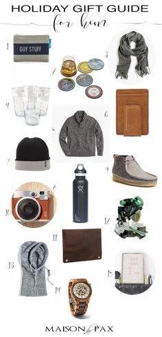 Holiday Gift Guide for Him: for brothers, dads, husbands... any men in your life, these gift ideas will get you ready for Christmas. Plenty of ideas at $30 or less! maisondepax.com