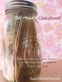The Money Challenge Need to try this…52 week money challenge. After the 52 weeks you will have $1,378.00!~ Im in- doing this January first!!