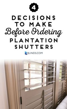 Custom Plantation Shutters are available with lots of exciting options so you can fit your home's style perfectly. Before you place your order, consider these 4 options for customizing your shutters. Shutters With Curtains, Shutters Inside, Cafe Shutters, Interior Window Shutters, Interior Windows, Blinds For Windows, Wooden Shutters Indoor, Window Blinds, Windows