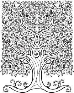 Welcome to Dover Publications 	 From: Keep Calm and Color -- Tranquil Trees Coloring Book