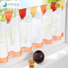 British Half-curtain Embroidered Window Valance Customize Light Shading Curtain for Kitchen Cabinet Door