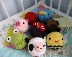 This listing is for my original crochet Animal Amigurumi Toy Pattern Set. The pattern is mostly single crochet stitches worked in a spiral and super easy to make, I have included lots of photo to help you along the way! This is my simplest pattern yet! A perfect pattern for even a amigurumi beginner!!
