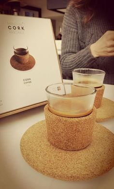 Inspiring Touch with CorkCoffee #coffee #cork #coffeecup #cup #glass #tablepieces #design #minimal