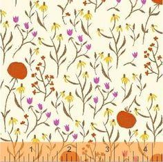 "Far Far Away, Floral in Orange - 52"" remnant"