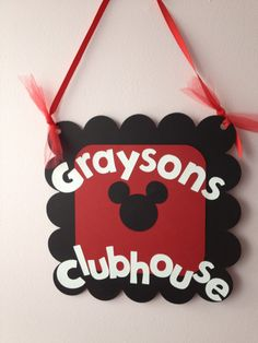 Mickey Mouse Party Door Sign, Mickey Mousse club house, Minnie Mouse Party, Disney Birthday, Mickey Mouse Baby shower.