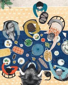 Illustration I made for the Flow food book, inspired by the lovely music video 'Oft Gefragt' from @annenmaykantereit #flowmagazine #annenmaykantereit #liekeland