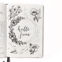 "761 curtidas, 28 comentários - Clarissa ♡ (@my_journaling_corner) no Instagram: ""Hello June """