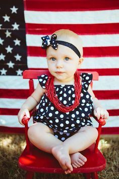 4th of july birthday photo ideas... love the flag backdrop!