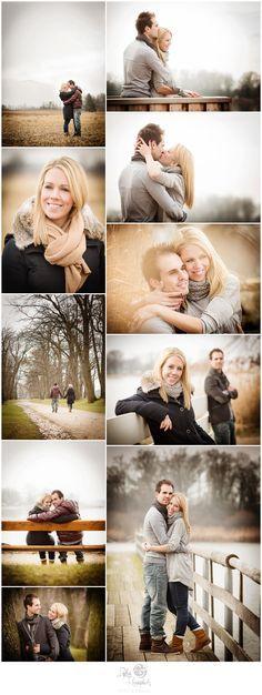 Pre-Wedding Fotoshooting im Winter am Chiemsee (Januar) #engagementsession #winter #january