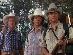 Dallas Bobby, JR Ewing and Ray Krebbs, all sweaty Spin, Charlene Tilton, Patrick Duffy, Dallas Tv Show, Watch Episodes, Tv Actors, Tv Guide, Texas, 1980s