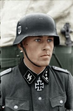 """SS-Sturmbannführer  FRITZ RENTROP (*November 19, 1917 in Münster/Westphalia; MIA February 2, 1945 in Hungary). Rentrop was awarded the Knight's Cross on October 13, 1941 for taking a railway bridge across River Desna near Makoshino/Russia with only four soldiers of his unit (2nd Battery/SS-Flak-Abteilung 2 """"Das Reich""""). As 1st Staff Officer of IV. SS-Panzerkorps on February 2, 1945 he was captured seriously injured by the Red Army in Hungary and is missing since then."""