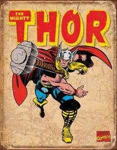 Thor Marvel Retro Comics Tin Sign
