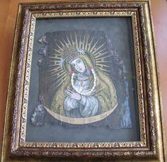 икона на бересте Остробрамская  Пресвятая Богородица.