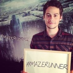 Dylan O'Brien. Thomas in The Maze Runner.